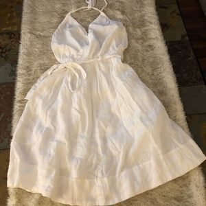 Lands' End White Linen beach dress